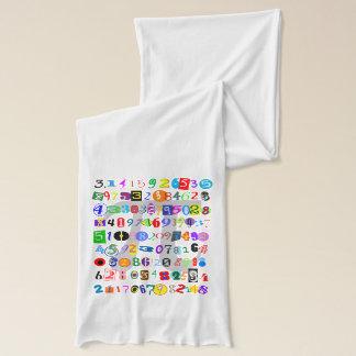 Écharpe Description colorée et d'amusement de pi calculé