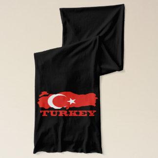 Écharpe Drapeau dans la carte de la Turquie