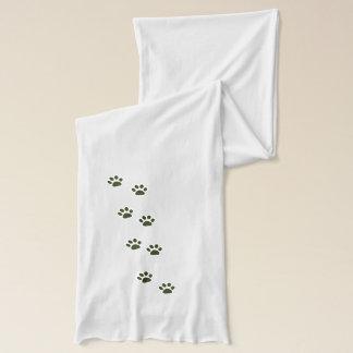 Écharpe empreintes de pattes élégants de chat
