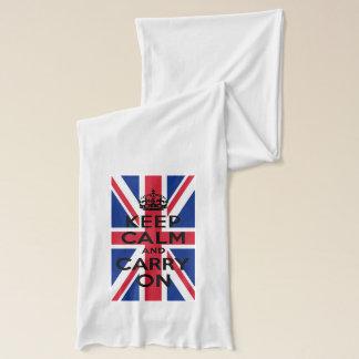 Écharpe Gardez le calme et continuez avec Union Jack
