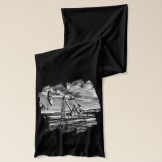 Écharpe Image noire et blanche de dispositif de pompage de