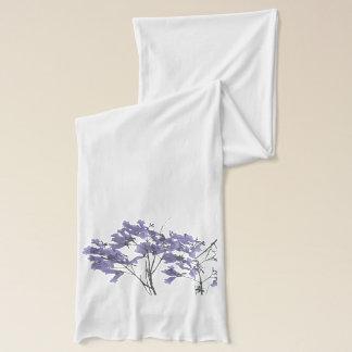 Écharpe Le Jacaranda pourpre fleurit l'écharpe