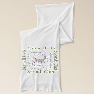 Écharpe Le texte somalien de chats ajuste l'écharpe