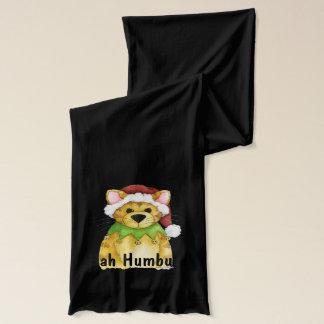 Écharpe Rouge grincheux fumiste d'écharpe de Noël de chat