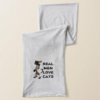 Écharpe Vrai scaf de chats d'amour d'hommes