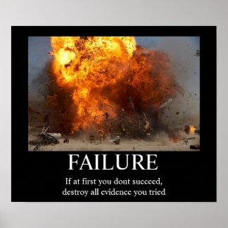 Échec - affiche de motivation drôle