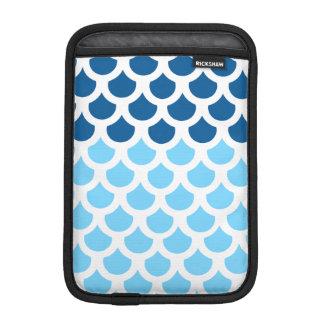 Échelle de poissons d'océan profond de bleu de housse iPad mini