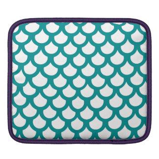 Échelle de poissons turquoise 1 poche iPad