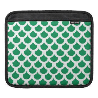 Échelle de poissons verte 2 poches pour iPad