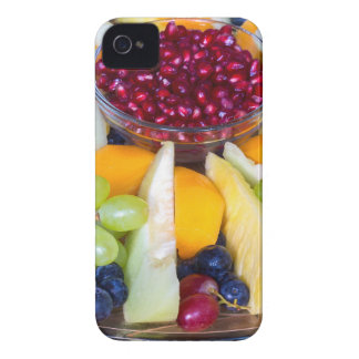 Échelle en verre complètement de divers fruits coques iPhone 4 Case-Mate