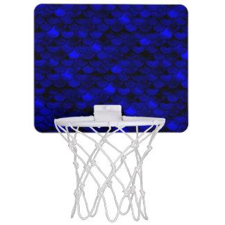 Échelles bleu-foncé de sirène de Falln Mini-panier De Basket