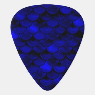 Échelles bleu-foncé de sirène de Falln Onglet De Guitare