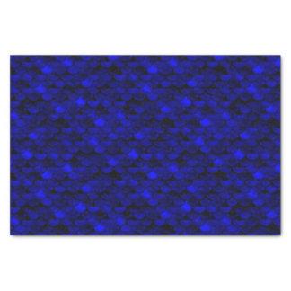 Échelles bleu-foncé de sirène de Falln Papier Mousseline