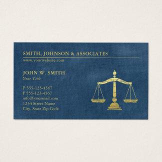 Échelles bleues d'avocat de rendez-vous de cabinet cartes de visite