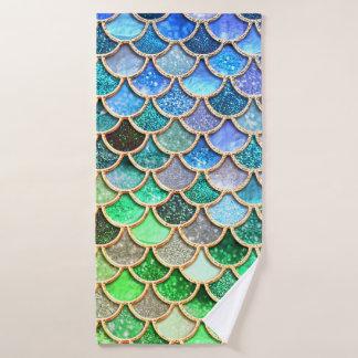 Échelles brillantes vert-bleu de sirène de parties