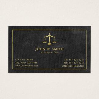 Échelles d'avocat de mandataire d'or de justice cartes de visite
