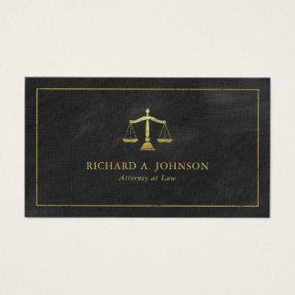 Échelles d'avocat de rendez-vous d'or de justice cartes de visite