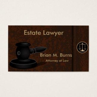 Échelles de la loi   d'avocat de la justice     cartes de visite