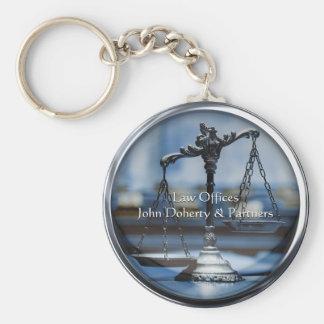 Échelles des avocats de la justice | porte-clé rond