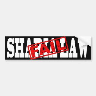 ÉCHOUER de loi de Sharia Autocollant De Voiture