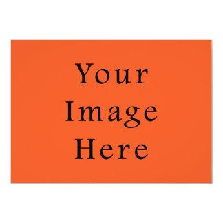 Echt Sjabloon van de Tendens van de Oranje Kleur 12,7x17,8 Uitnodiging Kaart