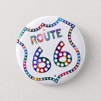 Éclaboussure de couleur de l'itinéraire 66 ! badge rond 5 cm