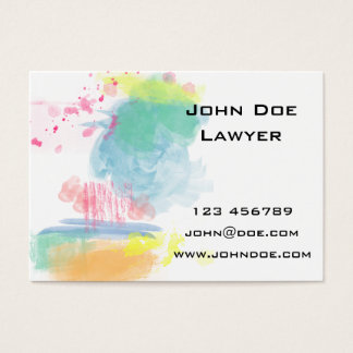 Éclaboussures vibrantes et colorées d'aquarelle carte de visite grand format