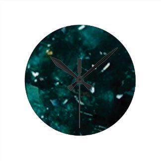 éclat vert-foncé horloge ronde