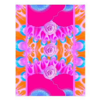 Éclats vibrants 3 de fleur cartes postales