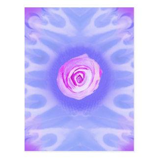 Éclats vibrants 4 de fleur carte postale