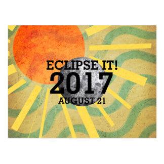 Éclipse de PIÈCE EN T il 2017 Carte Postale
