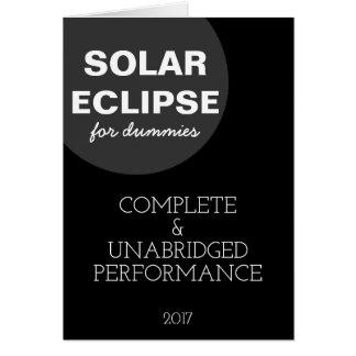 Éclipse solaire pour personnalisable drôle de carte
