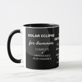 Éclipse solaire pour personnalisable drôle de mug