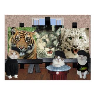 École d'art de Kitty Carte Postale