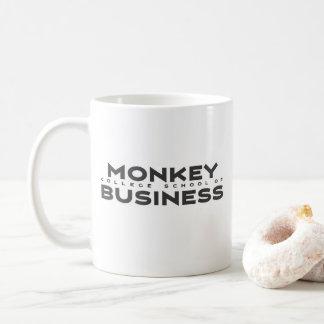 École d'université de singe de tasse de café