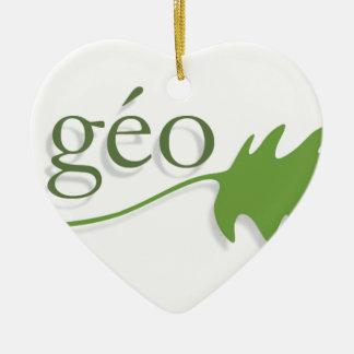 ecologie ornement cœur en céramique