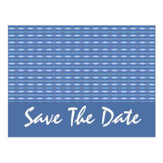 économies bleues de motif la date carte postale