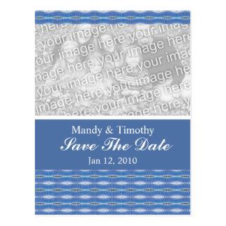 économies bleues de motif la date cartes postales