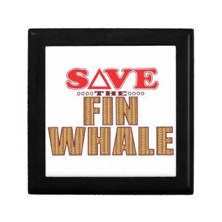 Économies de baleine d'aileron boîtes à bijoux