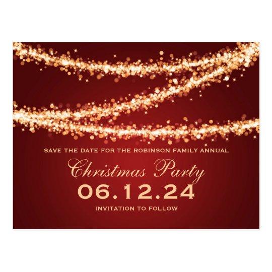 Économies de fête de Noël les lumières de ficelle Carte Postale