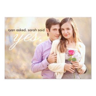 Économies de gris de photo de mariage la date carton d'invitation  12,7 cm x 17,78 cm