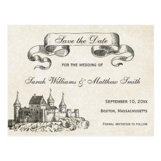 Économies de mariage de conte de fées la carte cartes postales