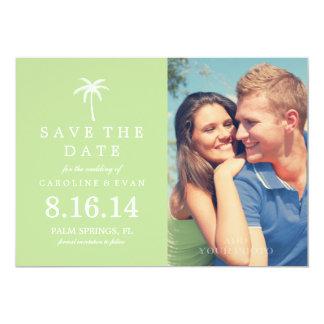 Économies de mariage de photo de palmier la date carton d'invitation  12,7 cm x 17,78 cm