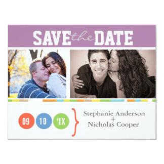 Économies de mariage de photo la date carton d'invitation 10,79 cm x 13,97 cm