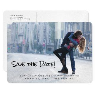 Économies de mariage de photo le modèle de date carton d'invitation  12,7 cm x 17,78 cm