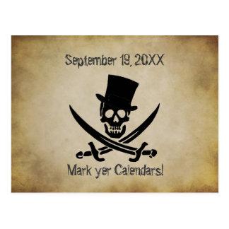 Économies de mariage de pirate la carte postale de
