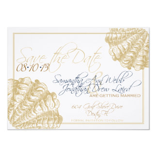 Économies de mariage de plage la date carton d'invitation  11,43 cm x 15,87 cm