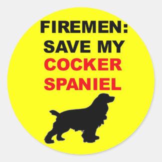Économies de pompier mon cocker