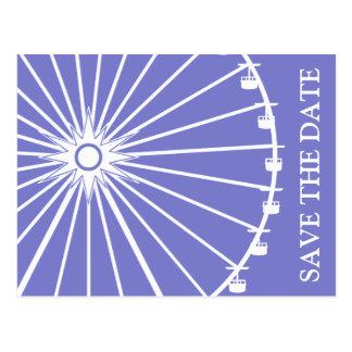 Économies de roue de Ferris les cartes postales de