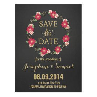Économies de tableau de fleurs la date carte postale